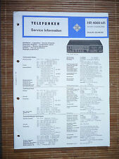 Service Manual für Telefunken HR 4000,ORIGINAL