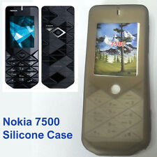 New Silicone Case Soft Jelly Skin Fitted for Nokia 7500 mobile phone - Grey