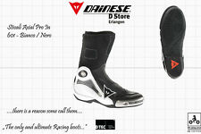NEW DAINESE AXIAL PRO IN MOTOGP RACE BOOTS WHITE BLACK US 12.5 EU 46 - 300 mm