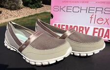 Skechers EASY FLEX TAKE IT EASY Shoes 22258 Taupe Womens 8.5 Memory Foam NIB