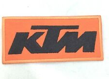 KTM LOGO EMBLEM BIKER RIDER MOTORCYCLE RACING IRON ON PATCH T-SHIRT JEANS BLACK