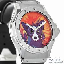 Hublot George Rodrigue Blue Dog Ltd. Stainless Steel 41mm Men's Automatic Watch