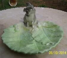 LOVELY VINTAGE WEMBLEY WARE LETTUCE LEAF SHAPED RABBIT DISH/PLATTER