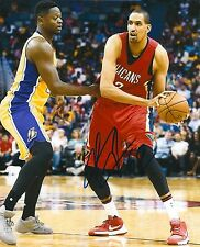 ALEXIS AJINCA signed NEW ORLEANS PELICANS 8X10 PHOTO COA F