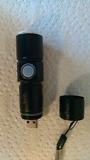 Cree Rechargeable Flashlight with USB connector and charging circuit integrated