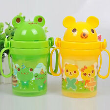 Baby Kids Cute Straw Cup Drinking Bottle Sippy Cup With Handles Baby Gifts