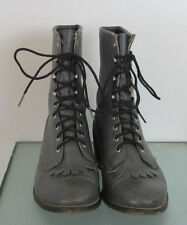 Laredo Gray Roper Lace Up Boots Sz: Women's 7 EE