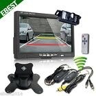 "7"" Car LCD Monitor+Wireless Night Vision Reverse Car Rear View Backup Camera Kit"