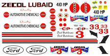 #3 Dick Hutcherson ZECOL Lubricants '62-64 1/64th HO Scale Slot Car Decals