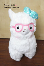 "4"" Japan Alpacasso Arpakasso White Llama Stuffed Plush Pendant Doll  Fluffy Toy"
