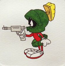 Marvin the Martian with ray gun, Hand Colored Ltd Ed Art Etching, Looney Tunes
