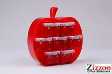 SMALL APPLE ORGANISER WITH 7 X 0.14 LITRE REALLY USEFUL BOXES - RED