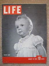 LIFE Aug 14 1939 1939 UAW strike, Army 2nd Division, KKK, Balkans ARMY AIR CORPS