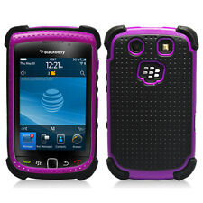 Purple With Black Hybrid Hard Case Cover for Blackberry Torch 9800/9810