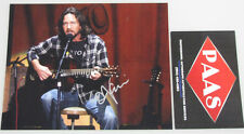 PEARL JAM EDDIE VEDDER  Hand Signed 8'x10' Photo +PAAS COA *Buy Genuine*