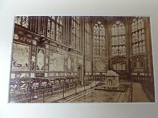C1880's Original Mounted Photo - St.George's Chapel, Windsor-Choir looking East