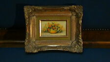 ANTIQUE 19C ORIGINAL OLD MASTER MINIATURE OIL ON BOARD PAINTING IN GILT FRAME