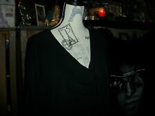 APT 9 Sharp Jet Black Blouse Size 26/28