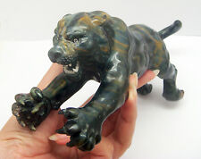 Natural Tiger's Eye Stone Tiger Figurine Carving Statue 4 Home Decor/Collectible
