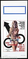 GIRO GIROTONDO CON IL SESSO È BELLO IL MONDO LOCANDINA CINEMA FILM SEXY ITA 1975