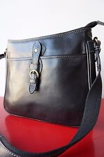 Sac BAG Besace KATANA Cuir Leather Bandouliere Noir PURSE excellent etat