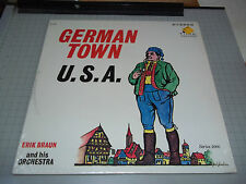 German Town U.S.A. Erik Braun and His Orchestra Stereo LP Time Records Fast Ship