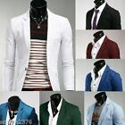 New 8 colors Stylish Men's Casual Slim fit One Button Suit Blazer Coat Jackets F