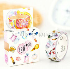 Cute cosmetics DIY paper Sticky Lable Adhesive Sticker Decorative Washi Tape