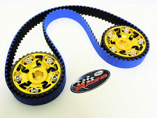 VMS HONDA CIVIC DEL SOL B16 GATES RACING TIMING BELT 2 CAM GEARS KIT GOLD YELLOW