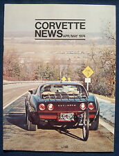 Prospekt brochure Corvette news de abril/may 1974 (EE. UU.)