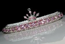 WINTER PINK SNOW PRINCESS CAT COLLAR made with PERCIOSA crystal