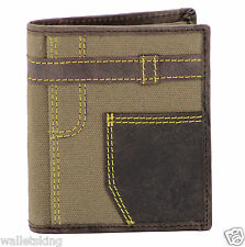 STARHIDE MENS REAL LEATHER JEANS CREDIT CARD WALLET WITH SECURE COIN POCKET 610