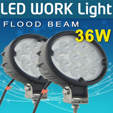 2X 12V 24V E14 Cree LED 36W Flood Beam Work Light TRUCK 12V 24V 4WD 4x4  Boat Ca