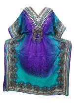 MOROCCAN DASHIKI AFRICAN MAXI CAFTAN PURPLE BEACH COVER UP KAFTAN DRESS XXL