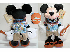"Disney Store Hawaii EXCLUSIVE 17"" MICKEY MOUSE Plush with Ukulele & Lei 2015 NEW"