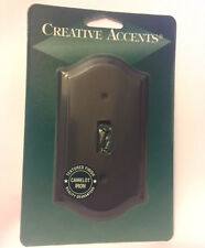 CREATIVE ACCENTS Textured Camelot Iron Steel Single Light Switch Wallplate