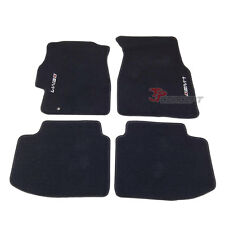 Fit 1996-2000 Honda Civic 2Dr 4Dr Black Nylon Floor Mats Carpets 4pcs Front Rear