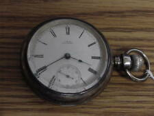 VINTAGE STERLING WALTHAM POCKET WATCH 11J P S BARTLETT 18S  STERLING CASE