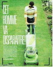 PUBLICITE ADVERTISING 115  1989  Fenwick la tondeuse Lawn-Boy