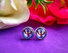 Spyro The Dragon Ps1 Retro Gamer Gift Cute Pair Stud Earrings 10mm