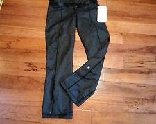 LULULEMON METHOD PANTS ANKLE LENGTH BLACK DENIM NWT size 6 with belt nwt