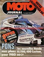 MOTO JOURNAL  446 KAWASAKI KX 125 Unitrak ; HONDA CM 400 T GL 1100 Gold Wing DX