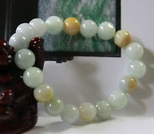 Certified Natural (Grade A) Untreated Jadeite JADE Beads Bracelet 10mm #191