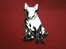 ~ BULL TERRIER MOTORCYCLE CAR EMBLEM Chrome Metal Badge suits Harley Davidson B