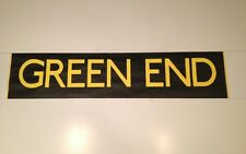 "Manchester Bus Blind (30"") Black & Yellow - Green End"