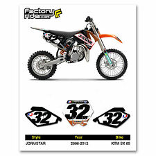 2006-2012 KTM SX 85 Dirt Bike Graphics Motocross Custom Number Plates