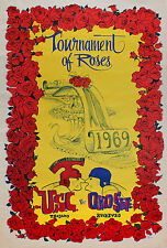 VINTAGE POSTER~1969 Rose Bowl USC Vs. Ohio State Full Size NOS College Football~