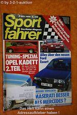 Sportfahrer 3/86 Maserati 425 Opel DB 190 E 2.3-16