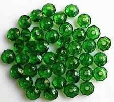 Green Rondelle Bicone Acrylic Spacer Loose Beads 200Pcs 6mm