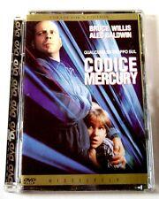 Dvd Codice Mercury - Collector's edition Ed. super Jewel box Usato fuori cat.